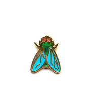 "RESERVED for christian- 1/2"" Tiny Fly Brooch by Penelope Gazin"