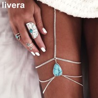 livera Hot Fashion Drop Stone Body Chain Neckalces Beach Tag Chains For Women Personality Friendship Nice Gift Sexy Body Chains