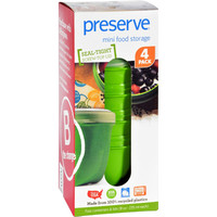 Preserve Food Storage Container - Round - Mini - Apple Green - 8 Oz - 4 Pack