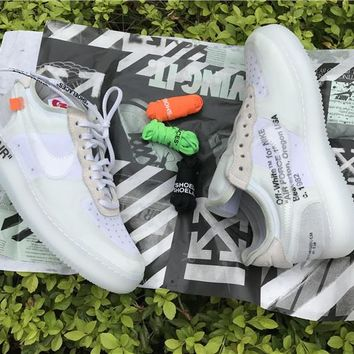 Best Online Sale Off White x Nike Air Force 1 Low Grey White Sport Shoes  A04606-100