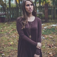 Solid and Steady Dress in Brown
