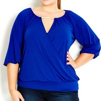 Plus Size Snake Chain Top - City Chic