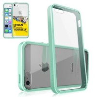 iPhone 5S /5 Case, Rearth Ringke Fusion Shock Absorption Bumper Premium Hard Case for Apple iPhone 5/5S - Mint