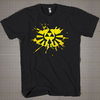 Zelda Triforce Logo  Mens and Women T-Shirt Available Color Black And White