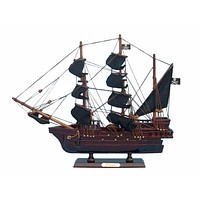 Wooden Edward England's Pearl Model Pirate Ship 14""