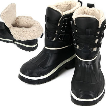 New Lace Up Womens Winter Snow Warm Black Waterproof Light Boots Shoes = 1945944388