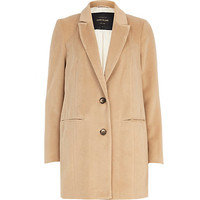 Camel drawn wool-blend coat - coats - coats / jackets - women