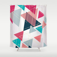 Triangle Pattern Shower Curtain by Ashley Hillman