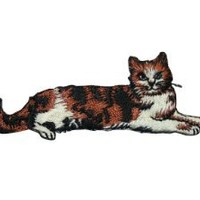 ID #3020 Cat Kitty Kitten Embroidered Iron On Applique Patch