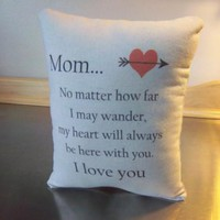 Mom Christmas gift pillow mother throw pillow mama quote cushion