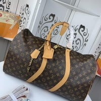 Kuyou Gb22991 Louis Vuitton Lv M43599 Monogram Travel All Collections Keepall Bandouliere 50 50.0x 29.0x 23.0 Cm