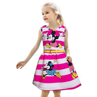 Summer Style Minnie Dress 2-7Y Kids Clothes Party Dresses For Girls Fashion Vetement Fille Princess Costume