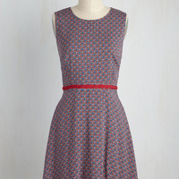 Twist of Elate Dress in Ruby | Mod Retro Vintage Dresses | ModCloth.com