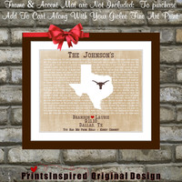 First Dance Lyrics Couples Song Art Print: You Had me From Hello Kenny Chesney Country Song Dancing Names Personalized MapTx Lyric Wall Art