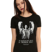 Supernatural Castiel Guardian Angel Girls T-Shirt