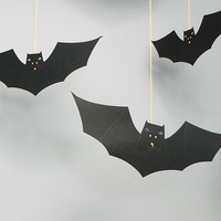 Meri Meri Halloween Hanging Bats Party Decoration at asos.com