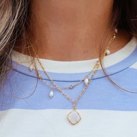 Foolish Games Necklace: Gold