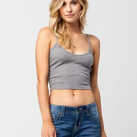 BOZZOLO Cropped V-Neck Womens Tank | Essentials