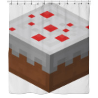 Minecraft Cake Curtain