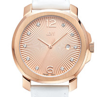 The Chelsea in Rose Gold-Plated Stainless Steel & White