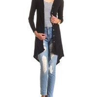 Ribbed High-Low Duster Cardigan by Charlotte Russe