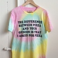 PIZZA OPINION PERFECT Unisex Tee