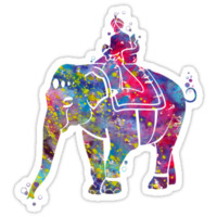 Indian Elephant Watercolor by bittermoon