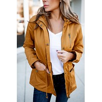 Fall Breeze Anorak Jacket (Mustard)
