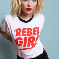 REBEL GIRL RINGER TEE