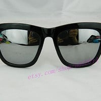 Unisex Sunglasses, retro. colorful shades. hipster. kitsch. shades. summer. sun. party glasses. plastic sunnies. twiggy