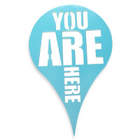 """Umbra® """"You Are Here"""" Wall Plaque in Blue"""