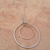 Emily Somers- Mixed Metal Circle Necklace