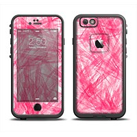 The Subtle Pink Watercolor Strokes Skin Set for the Apple iPhone 6 LifeProof Fre Case