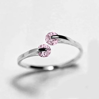 Match Made in Heaven Rings in Rose Gold and Pink Diamond Crystals
