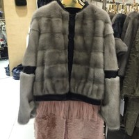SQXR FUR real mink fur fashion jacket  women real mink Fur coat women  natural mink  fur