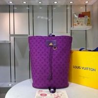 LV Louis Vuitton MONOGRAM DENIM ZAINO CHALK BACKPACK BAG