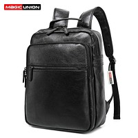 Wax Leather Backpacks  College Style Fashion Bag For Men Travel Zip Daily Waterproof Backpack