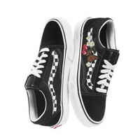 shosouvenir VANS OLD SKOOL Butterfly Cherry Embroidered Men's and Women's Leisure Shoes