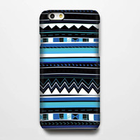 Aztec Blue Geometric iPhone 6 Plus 6 5S 5C 5 4 Protective Case #113