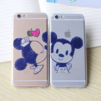 Disney Mickey and Minnie Cartoon iPhone Case for Couples and Lovers (iPhone 6/6 Plus)