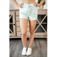 Z Supply French Terry Shorts (Illusion Blue)