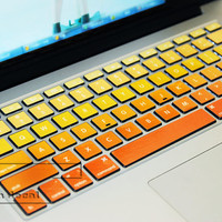 sunshine orange  keyboard decal MacBook decal MacBook air sticker MacBook pro decal