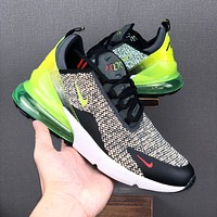 Nike Air Max 270 Black White Green Running Shoes - Best Deal Online