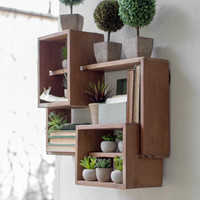 Set of 3 Interlocking Box Shelves