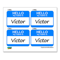 Victor Hello My Name Is - Sheet of 4 Stickers