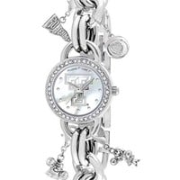 Women's Game Time Watches 'College - Texas Tech University' Charm Bracelet Watch, 23mm