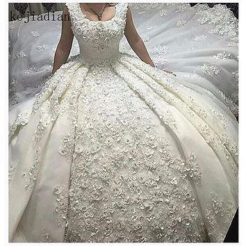 Full lace Luxury Ball Gown Wedding Dress