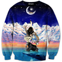 Reaching for the moon Crewneck