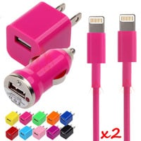 USB Home 8 Pin Data Sync Charger Cable For iPhone 5 5S 5C 5G