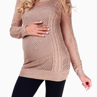 Mocha-Knit-Maternity-Sweater